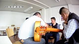 Gitarrenunterricht mit Kussi Weiss und Tschabo Franzen -  9. Juni 2013