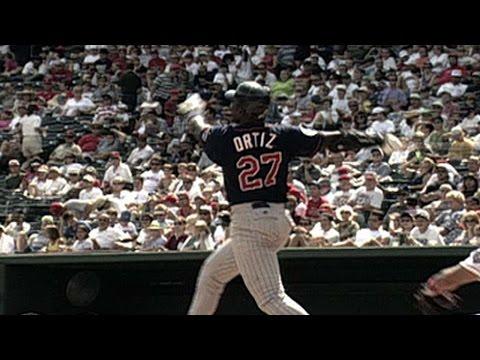 Ortiz hits his first career home run