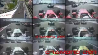 Формула-1: ДТП аварии снятые от первого лица