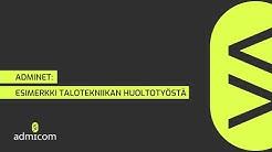 Esimerkkicase: Huoltotyö Adminetissä (Webinaarista 16.4.2020)