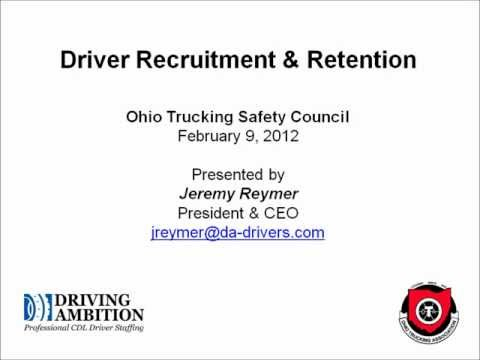 Truck Driver Recruitment and Retention