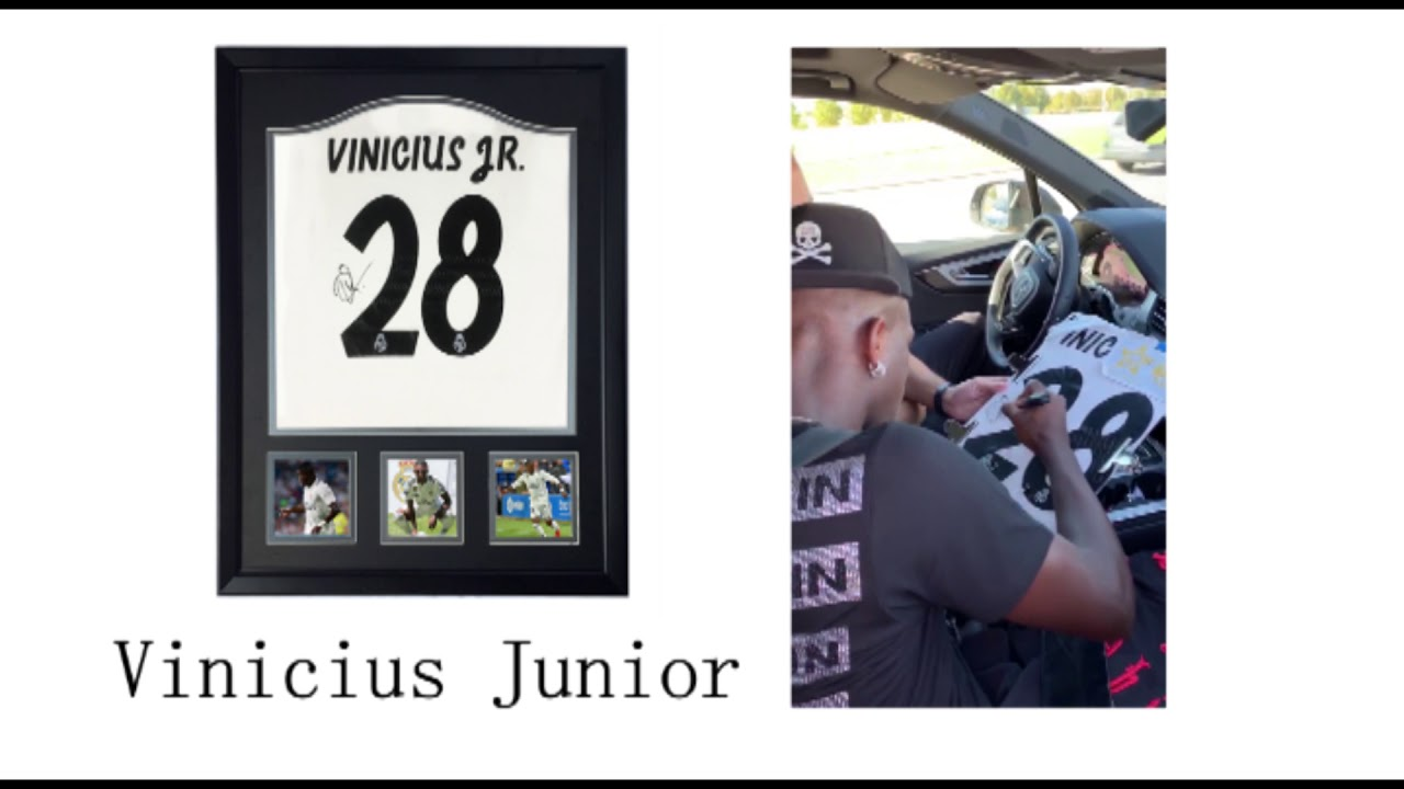 8b7e21c36 Vinicius Junior Autographed signed jersey shirt REAL MADRID - YouTube