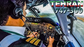 Piloting the BOEING 747 out of TEHRAN