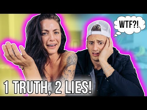 TWO LIES AND A TRUTH! (Never Before Told Embarrassing Stories)
