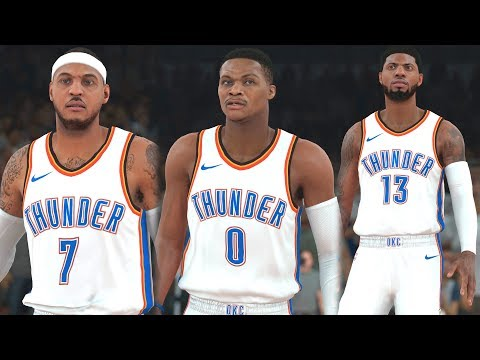 NBA 2k18 - Oklahoma City Thunder vs Golden State Warriors | Carmelo Anthony Traded to OKC