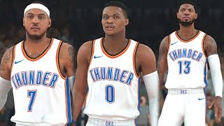 NBA 2k18 - Oklahoma City Thunder vs Golden State Warriors | Carmelo Anthony Traded to OKC