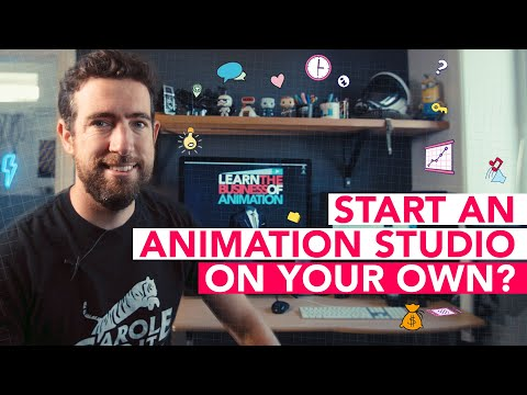 Starting an animation studio on your own vs with a business partner