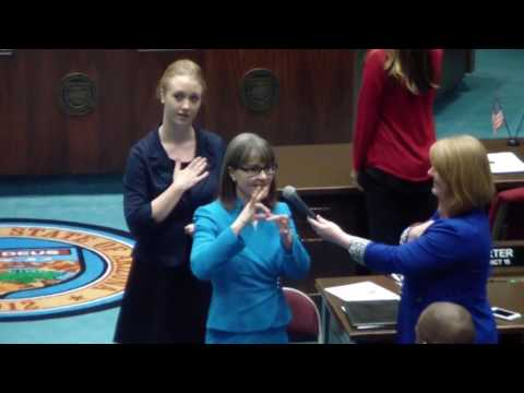 "<span class=""title"">Superintendent Reichman opens the Arizona House of Reps floor session with the Pledge of Allegiance</span>"
