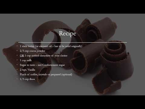 Chocolate Frosting Without Confectioners Sugar