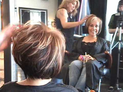 Part 2 of 2 Layered Angled Modern Bob Hair Cut featuring Sharon .wmv ...