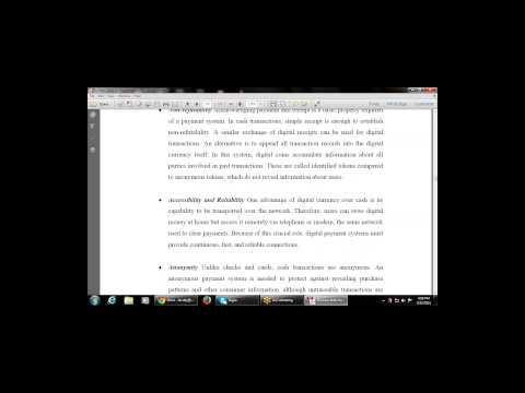 Business Skills for E-Commerce- Chapter-5 Electronic Payment System (Properties of Digital currency)