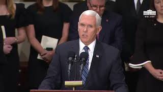 Vice President Pence Speech at the Lying in State of George H.W.  Bush Dec 3