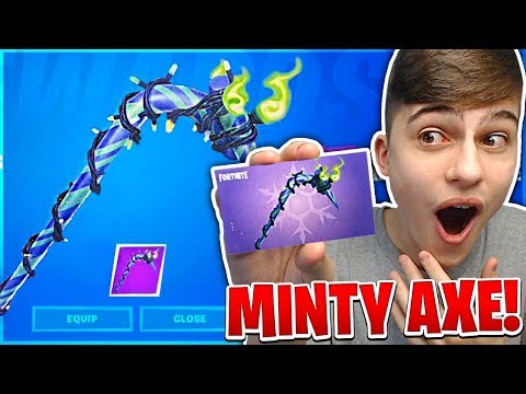I Got MINTY PICKAXE In Fortnite Battle Royale! (How To Get Secret Pickaxe)