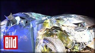 Unfall auf der A2 in Sachen-Anhalt  - Autofahrer lassen Verletzte liegen - BILD Update