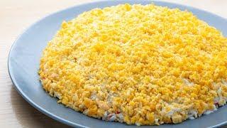Нежнейший Салат «Ландыш» -  вкусный, весенний салат за несколько минут