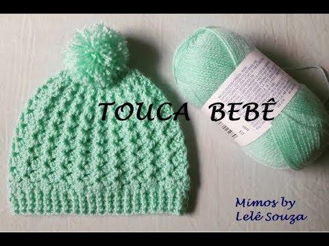 Touca gorro de crochê para bebê - YouTube 70593048bb4
