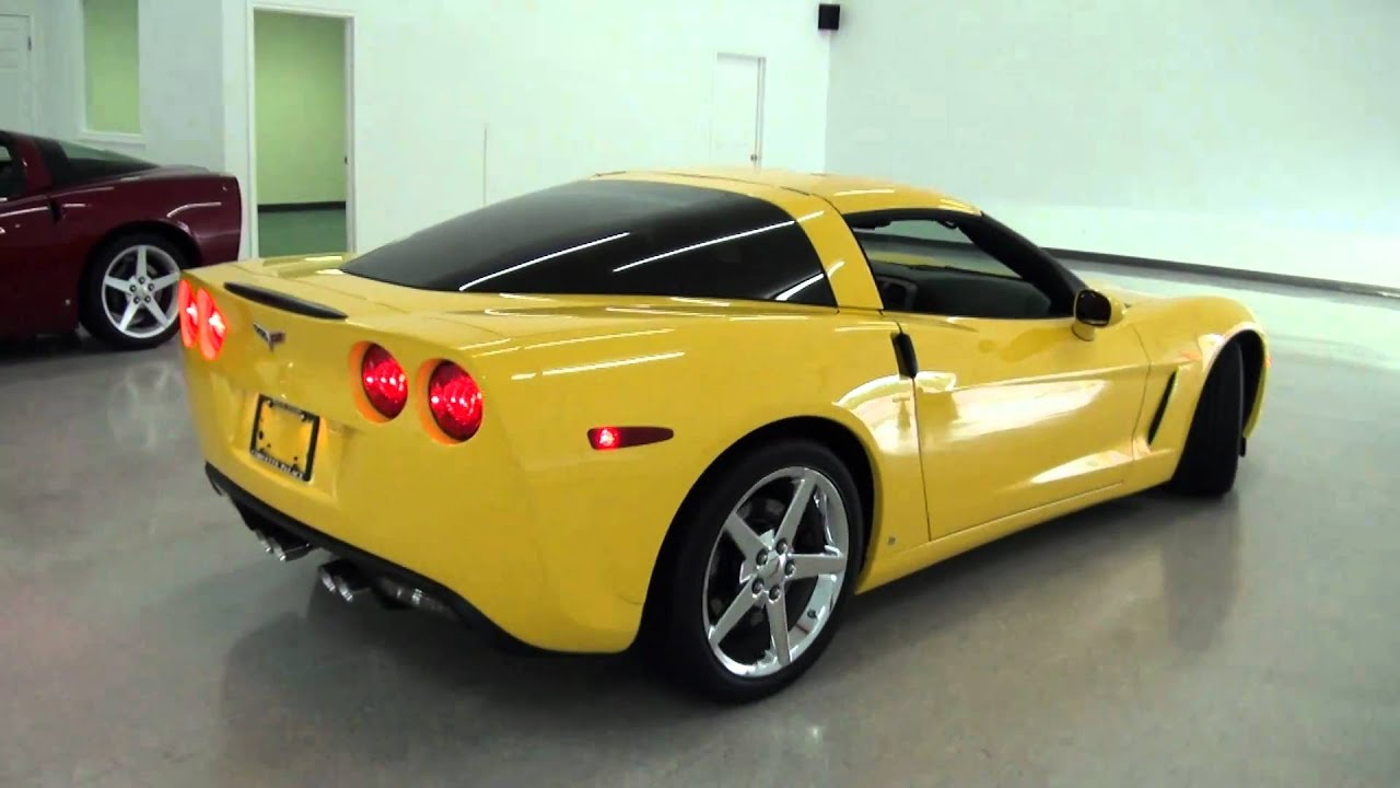 2007 Corvette Velocity Yellow Coupe Youtube