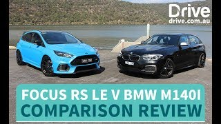 Ford Focus RS LE v BMW M140i Comparison Review | Drive.com.au