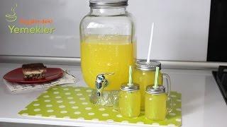 1 Portakal 1 Limon ile 3 lt Limonata Yapımı - Kolay   Limonata Tarifi / Hayalimdeki Yemekler