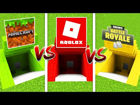 Minecraft SECRET BASE VS, ROLOX SECRET BASE VS FORTNITE BASE (Ps3/Xbox360/PS4/XboxOne/PE/MCPE)