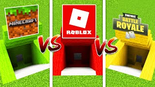 Minecraft SECRET BASE VS, ROLOX SECRET BASE VS FORTNITE BASE (Ps3/Xbox360/PS4/XboxOne/PE/MCPE)
