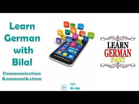 Communication German Photo Vocabulary with  English