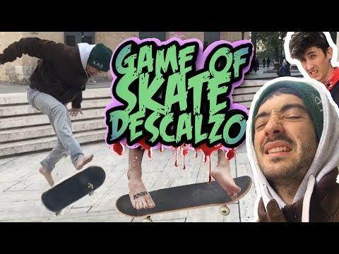 SKATE DESCALZO sin zapatillas / game of skate