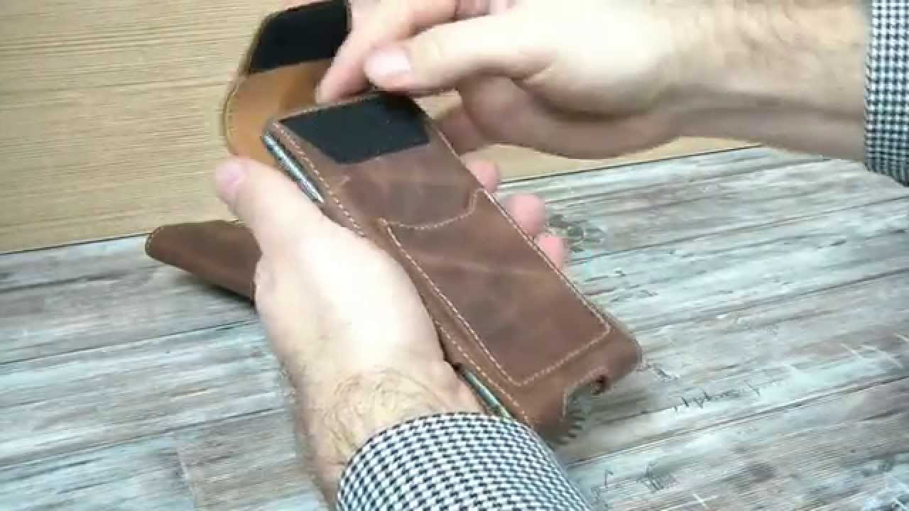 Iphone 6 Plus Togo Vertical Genuine Real Leather Holster With Belt