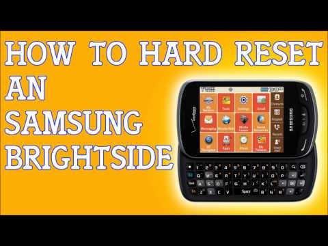 How To Reset Samsung Brightside Back To Factory Default