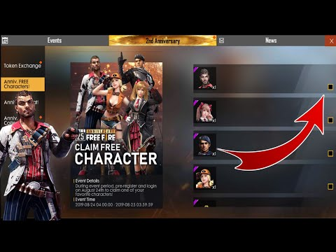 Claim Free Character Free Character Free Fire Game Big Event Full Details Video
