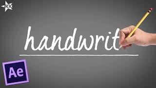 Handwritten Text Effect | Self Writing | After Effect Tutorial