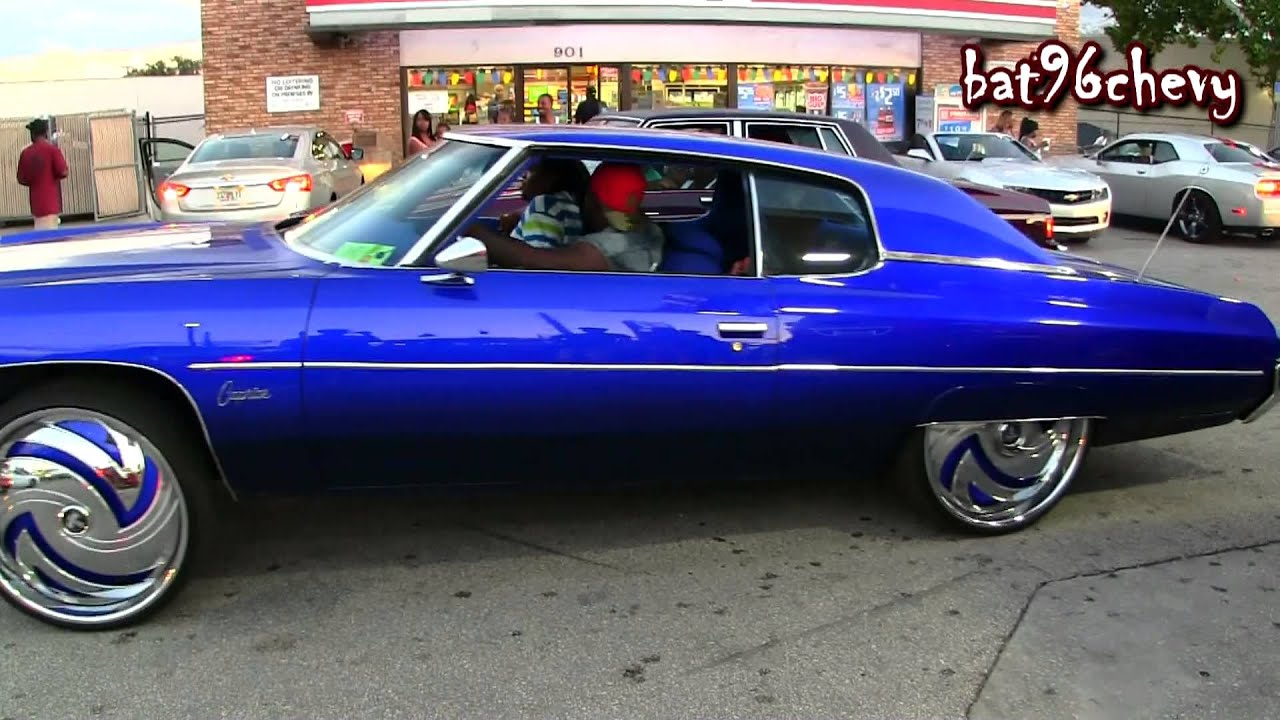 """Candy Blue 72 Caprice Donk on 26"""" DUB Hurricayne Floaters ..."""