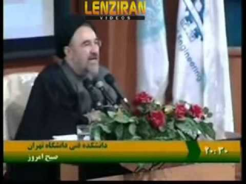 Footage of Mohamad Khatami meeting with students and in Kermanshah during his presidency