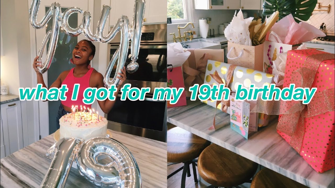 what I got for my 19th birthday! // realistic gift ideas