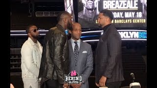 TENSIONS FLARE!! DEONTAY WILDER & DOMINIC BREAZEALE COME FACE TO FACE YEARS AFTER SCUFFLE