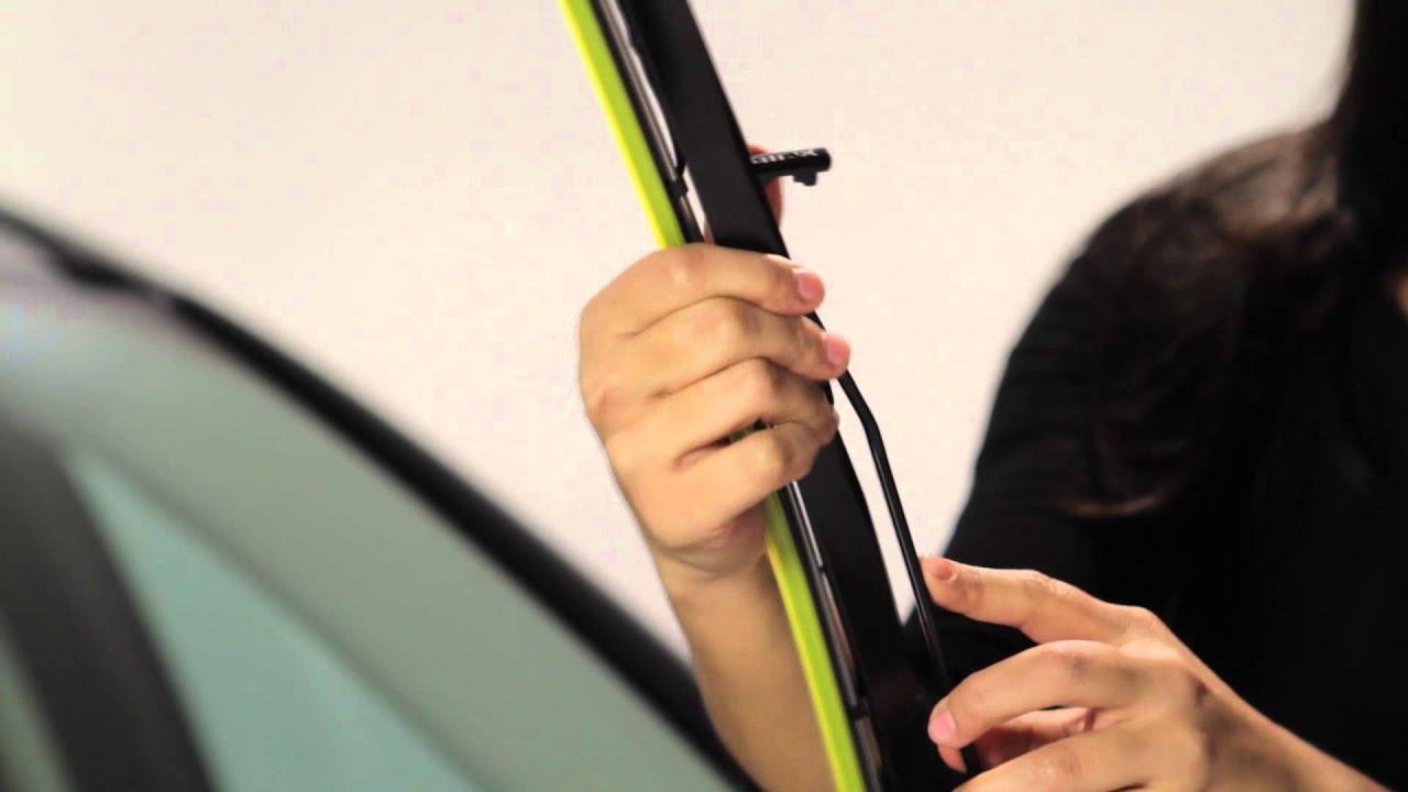 Rain X Expert Fit Hybrid Wiper Blade Installation Large J Hook