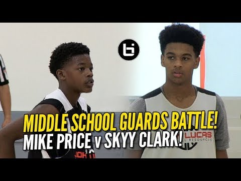 Skyy Clark v Mike Price! Top Middle School Guards at Lucas Camp!