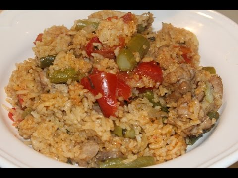 Spanish Style Chicken & Vegetable Rice (One Pot Meals)