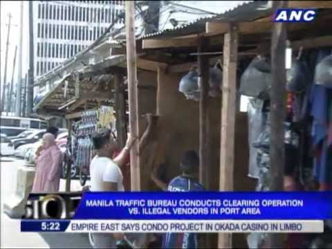 Manila port area cleared of illegal vendors