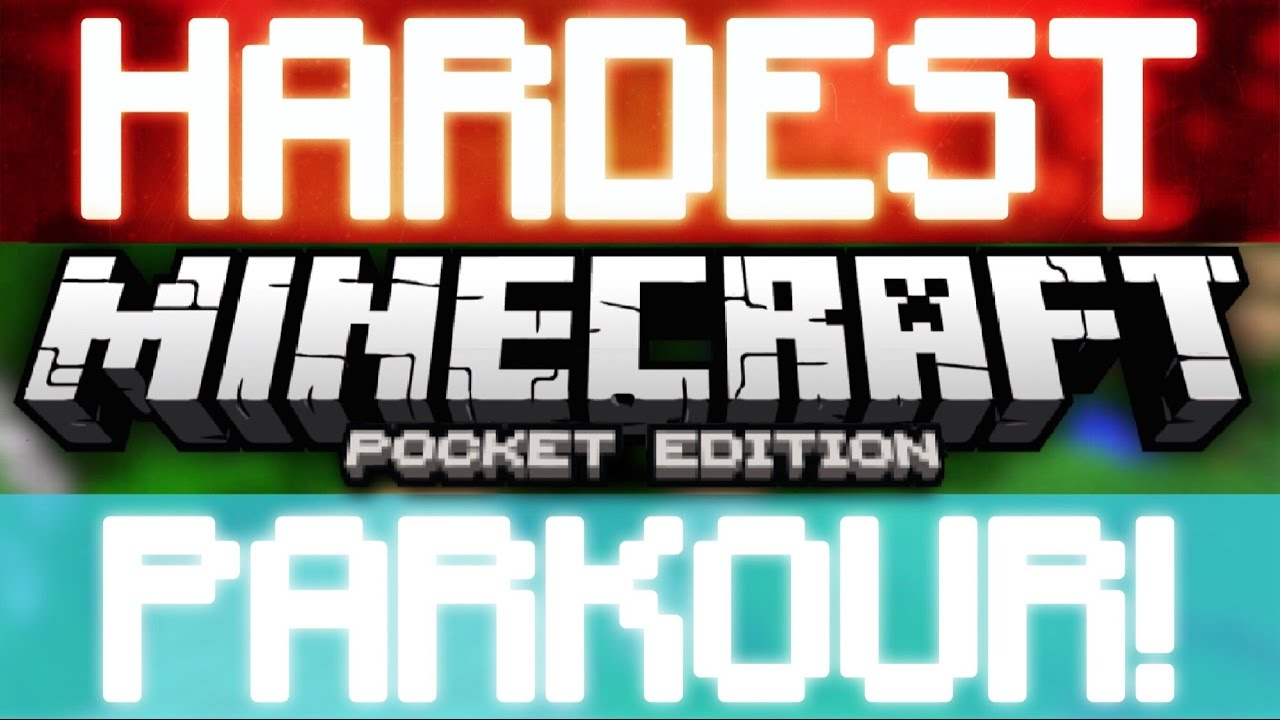HARDEST MCPE PARKOUR MAP EVER! (Noob plays parkour map!) Minecraft PE 1 0 3