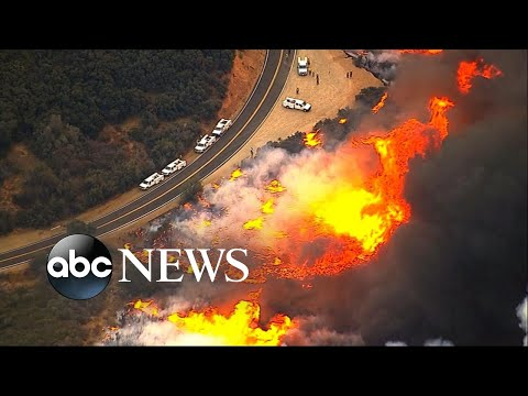 Download Youtube: 6 California wildfires burn out of control