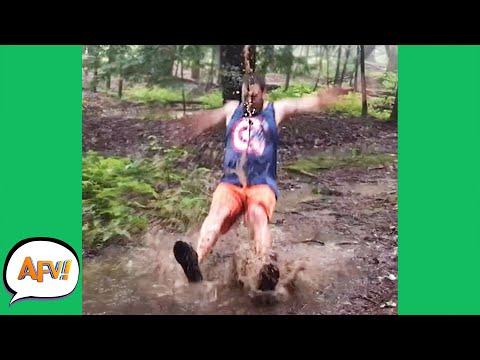 Puddle JUMPER?! More Like Puddle THUMPER! 😂 | Funny Fails | AFV 2021