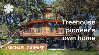 world s largest treehouse 7 trees support 1800 sq ft home