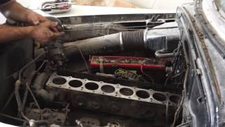 1951 buick straight 8 cleaning the block deck