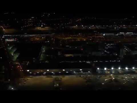 Tokyo (Narita)-to-Hong Kong flight: Tokyo Bay & Hong Kong Harbour at night 2012-02-12