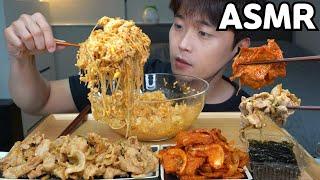[와차밥] 콩나물밥 간장제육볶음 매운어묵볶음 먹방 요리 레시피 Korean Home Made Food MUKBANG ASMR EATING SHOW COOKING RECIPE