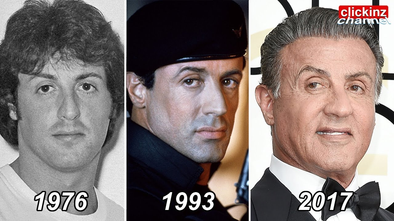 Sylvester Stallone then and now, from 7 to 71 years old & incredible plastic surgery transformation - YouTube