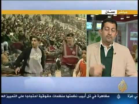 فيديو مؤسف   أحداث الشغب في مباراة الفيصلي والوحدات