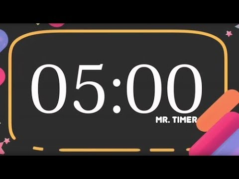 5 Minute Countdown Timer Alarm Clock! Timer for Kids 5 Minutes