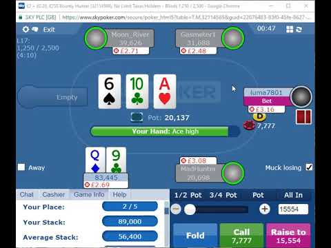 Another (small) Final Table on Sky Poker